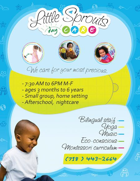 Home Daycare Flyers Ideas Johnson Administration \ Design - daycare flyer