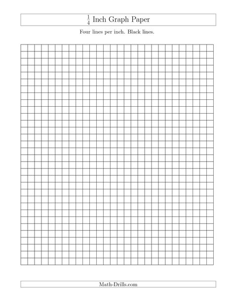 The 1 4 Inch Graph Paper with Black Lines (A) math worksheet from - isometric dot paper