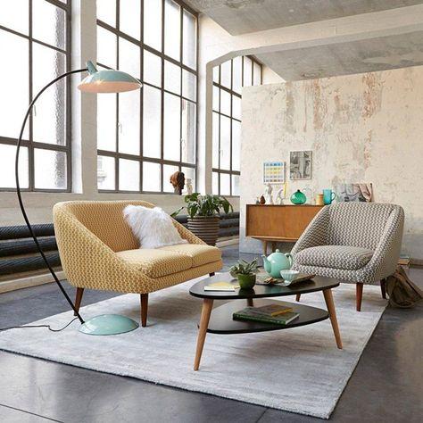 image Table basse vintage double plateau coloris noir, Jimi La Redoute Interieurs