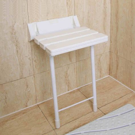 37.74$  Watch now - http://ali5qy.shopchina.info/go.php?t=32787333695 - ABS+Aluminum folding shower seat  wall mounted  relaxation shower chair wall chair folding chair  office chair have legs 37.74$ #buymethat