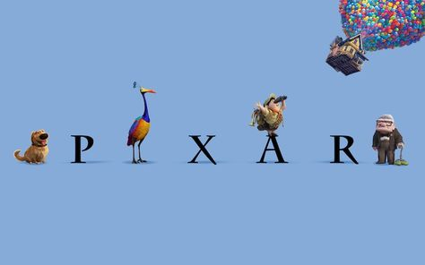 Pixar's Casts of Characters Surround its Classic Logo