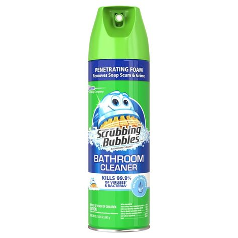 Scrubbing Bubbles Bathroom Grime Fighter Aerosol Rainshower 20oz Scrubbing Bubbles Bathroom Cleaner Scrubbing Bubbles Bathroom Cleaner
