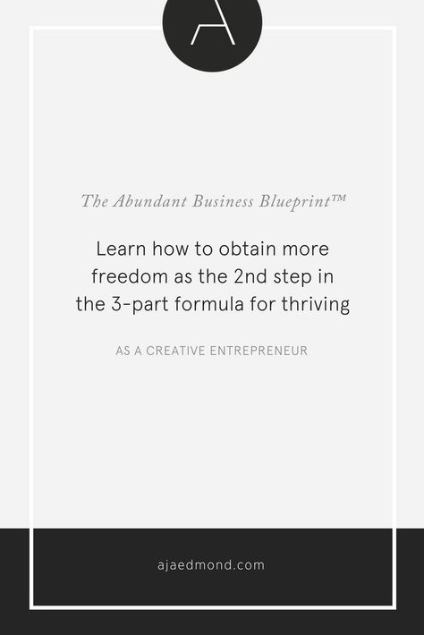 The abundant business blueprint how to experience more freedom the secret to thriving in your life and work as a creative entrepreneur comes down to a simple 3 step formula for personal growth and business growth malvernweather Images