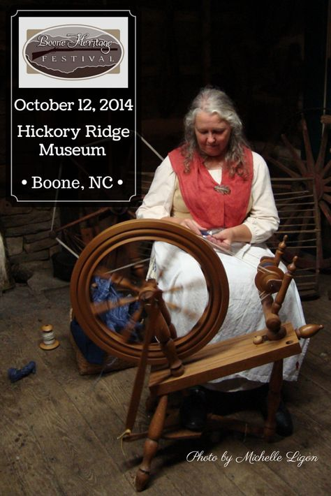 Learn about old-time way of life during the Boone Heritage Festival, Sun., Oct. 12, 2014, 10AM - 4PM, at Hickory Ridge Living History Museum. #BooneNC #fall #autumn