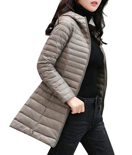 XQS Mens Hooded Faux Fur Quilted Winter Down Jackets Puffer Coats