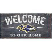 "#NFLShop.com - #NFLShop.com Baltimore Ravens 6"" x 12"" Welcome To Our"