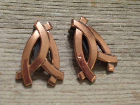 Renoir Earrings Vintage RENOIR Copper Bold by TheCopperCat on Etsy