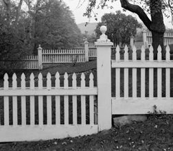 VICTORIAN FENCE | This Early Wood Fence Was Constructed At The 19th Century  Coburn Tyler ... | Landscaping | Pinterest | Wood Fences, Victorian Gardens  And ...