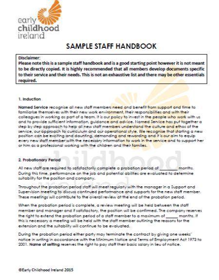 Pin On Employee Handbook Template