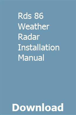 Rds 86 Weather Radar Installation Manual Chevrolet Silverado Chevrolet Silverado 1500 Repair Manuals