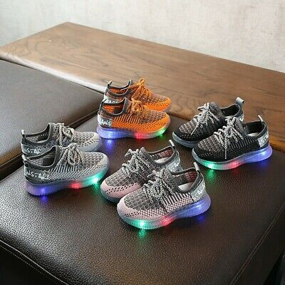 Children/'s Light Breathable Sneakers Casual Trainers Running Shoes Kids Boys Gir