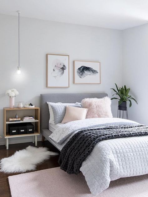 Beautiful Bedding With A Light Pastel Color Palette Bedroom Interior Couples Master Bedroom Bedroom Design Bedroom design pastel color