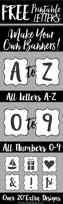 Diy Printable Banner Free Printable Letters To Make Banners