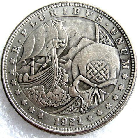 US HOBO 1897 Morgan Dollar Skull Zombie Skeleton Creative Coin
