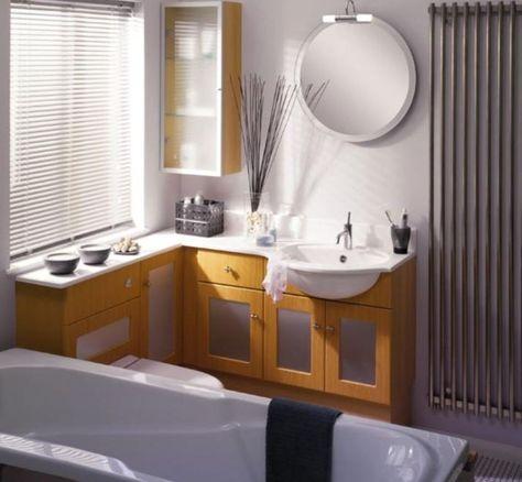 small bathroom ideas-narrow vanity that wraps around the