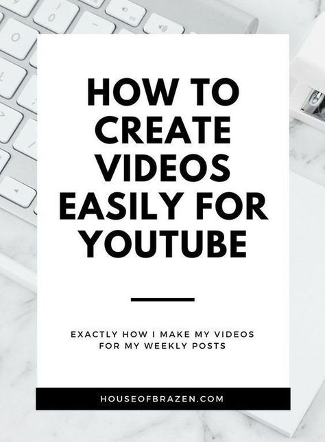How to create videos easily for YouTube. #SocialMediaMarketing #video #ContentCreation #OnlineBusiness #marketing