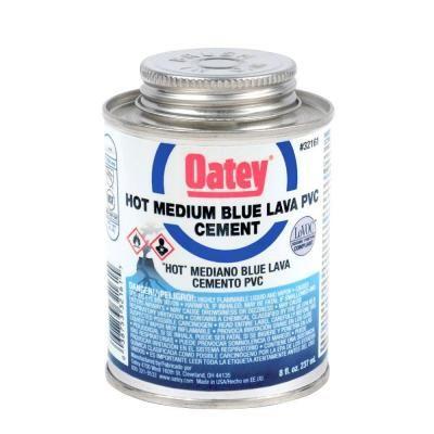 Oatey 8 Oz Pvc Blue Lava Hot Cement 321613 Cement Lava Home Depot