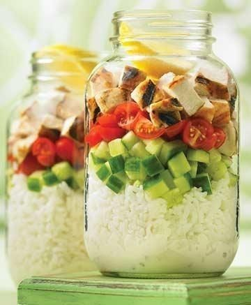 Try chicken and rice in a mason jar - Easy Meals Your Kids (and Husband) Will Love - Photos