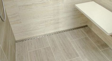 32 Showerline Drain Pan Sloping Kit Curbed Shower Shower Drain Modern Shower