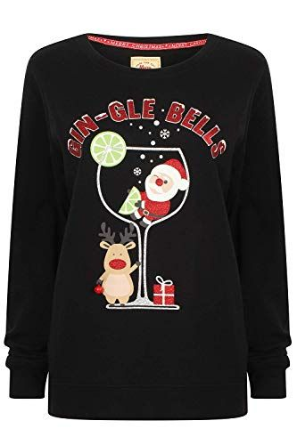 Novelty Womens Christmas Jumpers Ladies Knitted Sweater Top Amazon Co Uk Clothing Knit Sweater Tops Womens Christmas Jumper Sweater Top