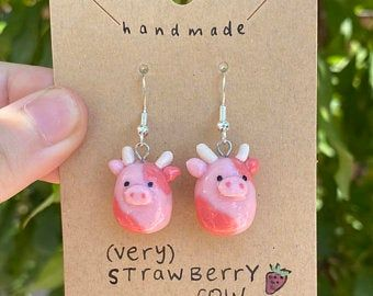 Weird Jewelry, Cute Jewelry, Funky Jewelry, Jewlery, Funky Earrings, Diy Earrings, Polymer Clay Charms, Polymer Clay Jewelry, Biscuit