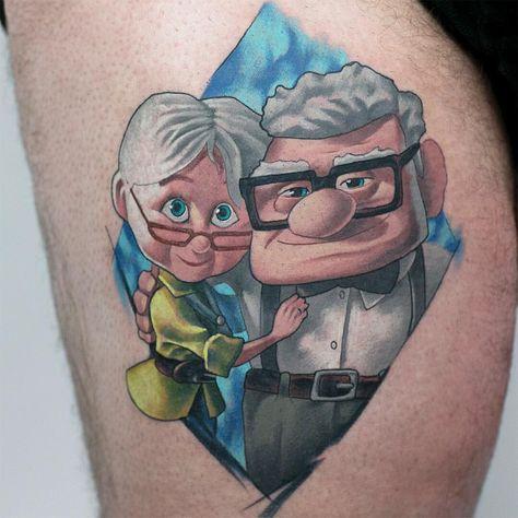 "LUV N ROLL en Instagram: ""UP!! Amazing @klark_tattoo Matching tattoo for a wonderful couple! Thanks @skin2skin_ink_recover #luvnroll #klark #custom #color #tattoo…"""