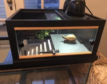 Large Turtle Tower Above Tank Acrylic Model Turtle Basking Etsy Turtle Tank Turtle Aquarium Aquatic Turtle Tank