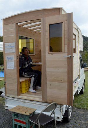 軽トラハウス 自作 Google 検索 小屋 移動式カフェ キャンピングカー