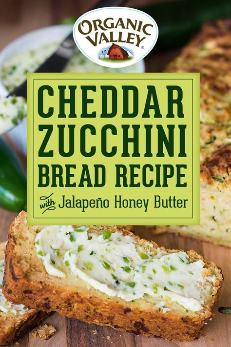 Zuchinni Recipes, Zucchini Bread, Cheddar, Pan Rapido, Bread Recipes, Cooking Recipes, Yummy Food, Tasty, Summer Recipes