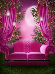 Photo From Album Pink Garden On Photography Studio Background