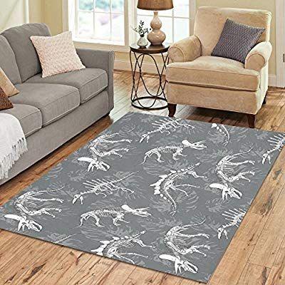 Amazon Com Interestprint Gogogosky Custom Dinosaurs Skeleton Area Rug Floor Rug Room Carpet 7 X5 Kitchen Dining With Images Carpet Sale Area Rugs Room Rugs