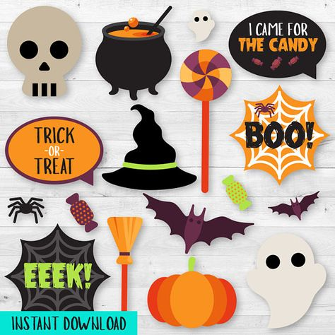Instant Download Halloween Party Photo Booth Props  Printable