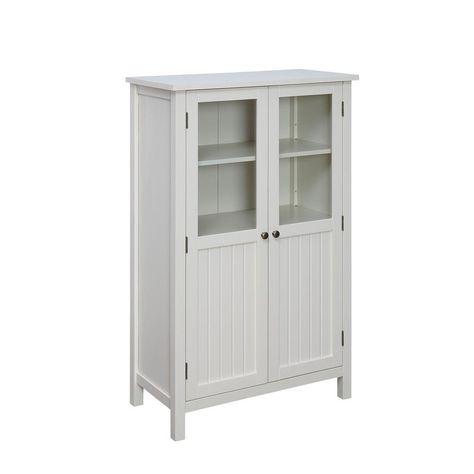 Usl Farmhouse White Storage Pantry Polar White White Storage