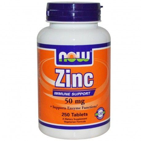 Now Foods Zinc 50 Mg 250 Tablets Zinc Supplements Now Foods Supplements