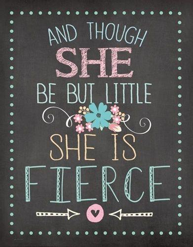 She Is Fierce She Is Fierce Great Big Canvas Pink Wall Art