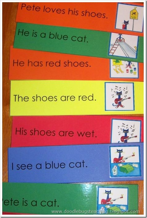 I like the idea of taking simple sentences from favorite books to use for fluency practice.