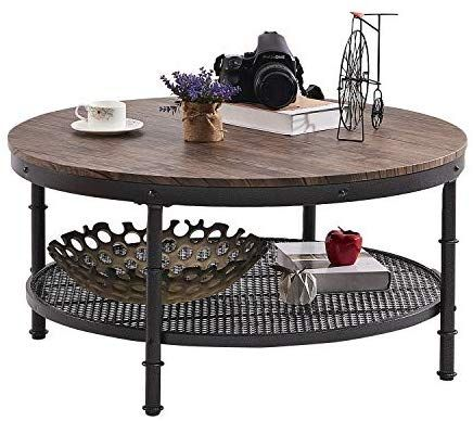 Amazon Com Greenforest Coffee Table Round Industrial Design