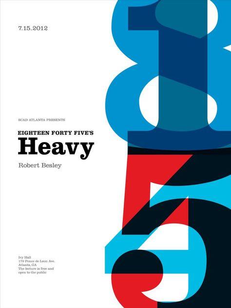 Clarendon used in a typographic poster | Poster design, Web design und Plakat