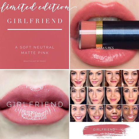 Limited Edition Girlfriend LipSense is a must have! A beautiful soft neutral matte pink. Girlfriend LipSense selfies, girlfriend selfie. Perpetual Pucker lips, and Siara's Pics lips. Great for your girlfriend, girlfriends, or even yourself for a Valentine's Day gift