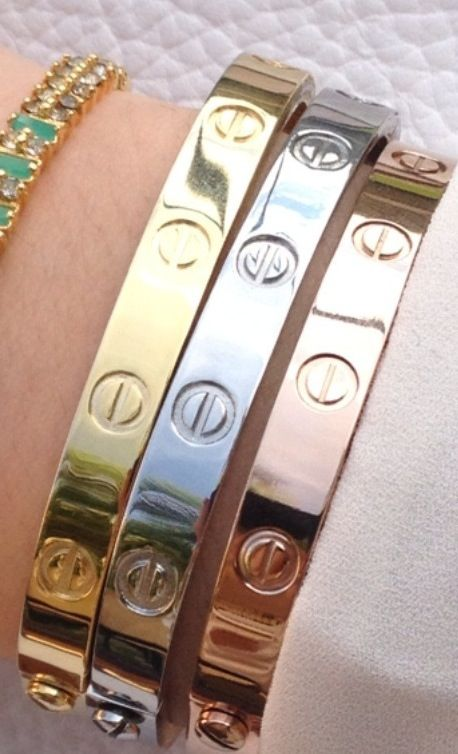 Cartier Love Bracelets Are The Only Piece Of Jewelry Besides My Wedding Ring I Ve Ever Actually Dreamed Having Clothes Pinterest