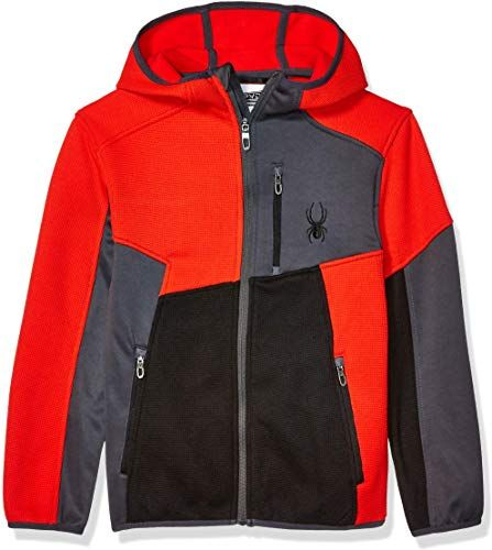 Spyder Boys Big Full Zip Fleece Hooded Jacket