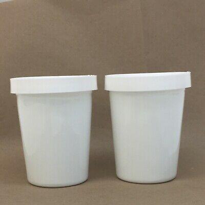 Salton Yogurt Maker YM-4 White Milk Glass Jar Cup With Lid Replacement Part GM-5