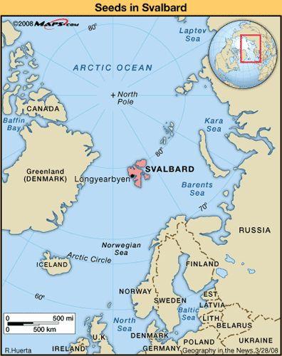 Map Of Svalbard Island In The Norwegian Arctic Svalbard Islands - Svalbard map