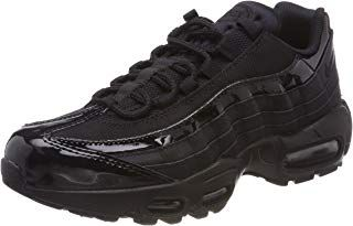 nike air max 95 leather trainers in black
