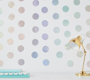 Silver Confetti Dots Set Of 128 From Wall Rehab Tapestries