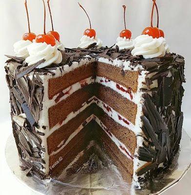 Basic Blackforest Cake Kue Lezat Aneka Kue Kue
