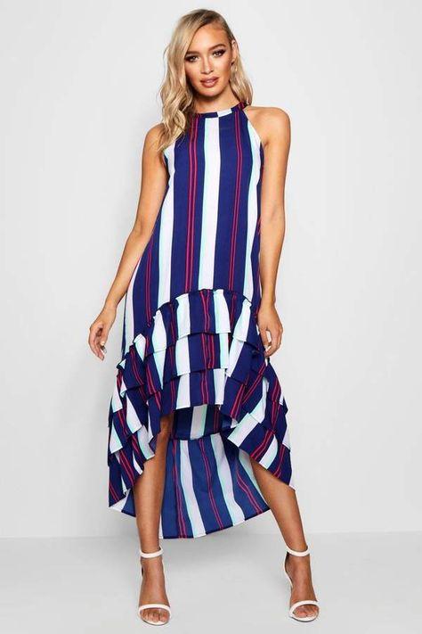 743497323eaa Stripe Ruffle Tiered Shift Dress | в горох | Pinterest | Горох