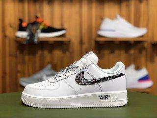 Nike Air Force 1 Lv8 Just Do It White Black Total Orange Bq5361