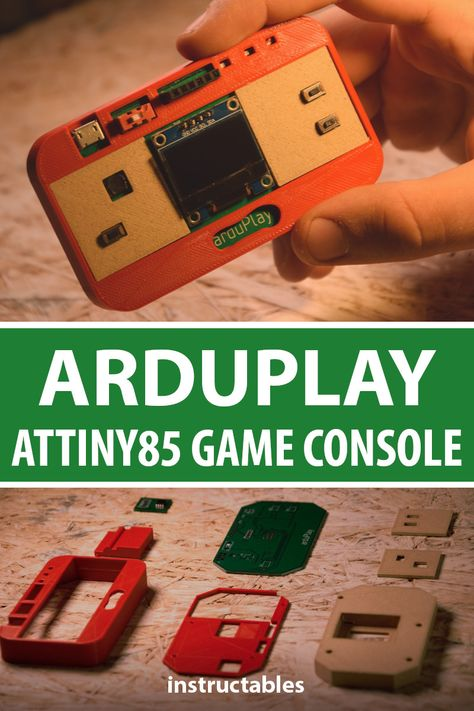 ArduPlay is an Attiny85 game console. #Instructables #electronics #technology #3Dprint #fusion360