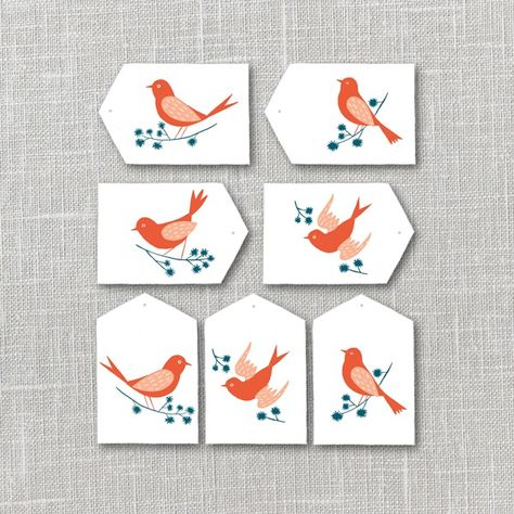 Bright Birds Gift Tags | Julianna Swaney